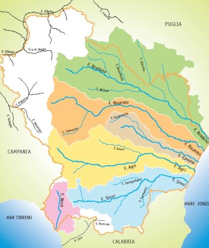 Cartina Fiumi Campania.Autorita Di Bacino Caratteristiche Ambientali